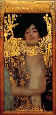 Judith And The Head Of Holofernes Art Print by Gustav Klimt