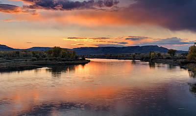 Judith Photograph - Judith Landing Sunset by Leland D Howard