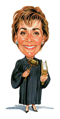Awesome Painting - Judith Sheindlin As Judge Judy by Art