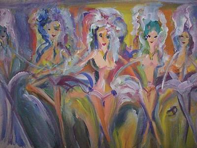 Applause Painting - Juditte And Her Beauties by Judith Desrosiers