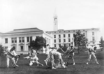 Judo At Uc Berkeley Print by Underwood Archives