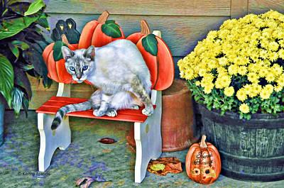 Judy Blue Eyes Art Print by Kenny Francis