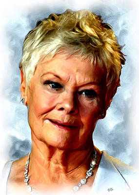 Blockbuster Painting - Judy Dench by Paul Quarry