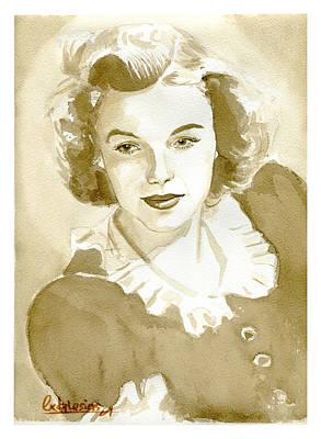Judy Garland Painting - Judy Garland by David Iglesias