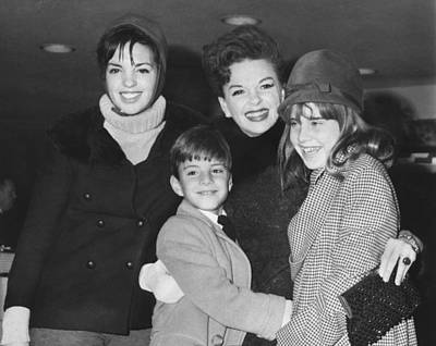Movie Star Photograph - Judy Garland With Children by Underwood Archives