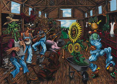 Painting - Jug Band  by Ned Shuchter