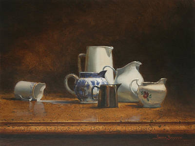 Traditional Still Life Painting - Jug Not That You Be Not Jugged by Graham Braddock
