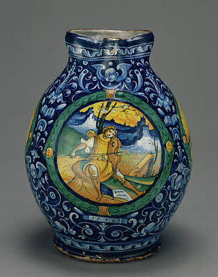 Jug With A Musical Theme Unknown Faenza Art Print