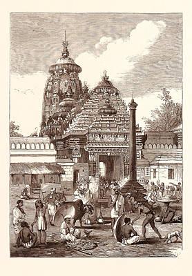 Juggernaut Drawing - Juggernaut The Entrance To The Temple by English School
