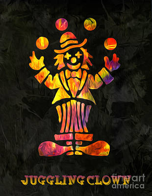 Shoe Digital Art - Juggling Clown By Kaye Menner by Kaye Menner