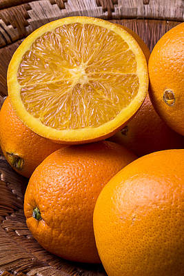 Juicy Orange Art Print by Garry Gay