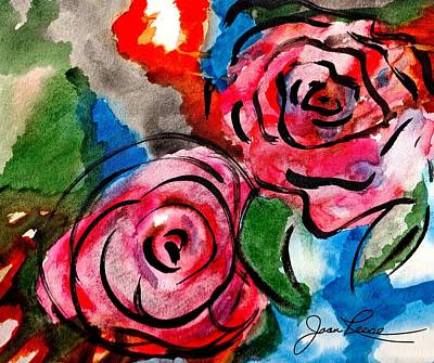 Painting - Juicy Red Roses by Joan Reese