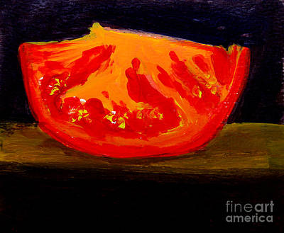 Tropical Fruit Painting - Juicy Tomato Modern Art by Patricia Awapara