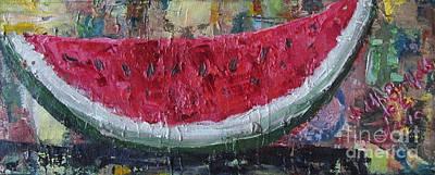 Juicy Watermelon Slice - Sold Art Print