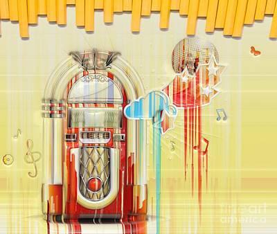 Juke Box Art Print by Liane Wright