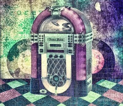 Sounds Mixed Media - Juke Box by Mo T