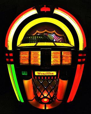 Photograph - Jukebox by Benjamin Yeager