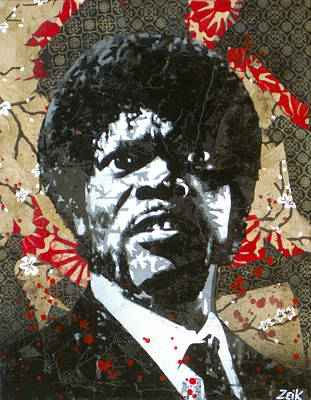 Pulp Fiction Painting - Jules  by Bobby Zeik