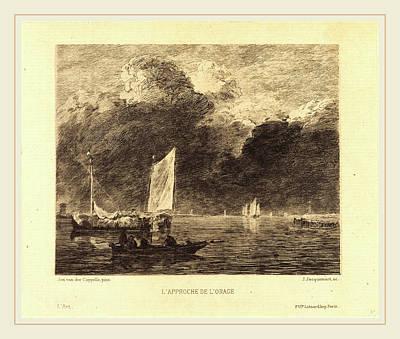 Storm Drawing - Jules-ferdinand Jacquemart After Jan Van De Cappelle French by Litz Collection
