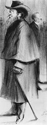 Elderly People Drawing - Jules Guesde by Alphonse Leon Noel