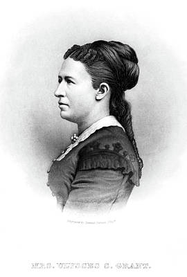 Julia Dent Grant (1826-1902) Art Print