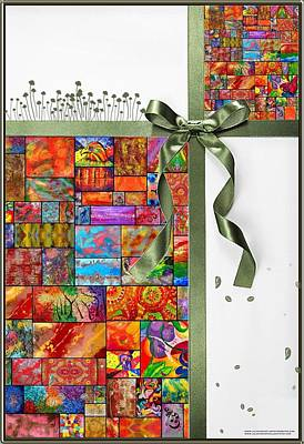 Modern Painting - Julia Fine Art Greeting Card  by Julia Fine Art And Photography
