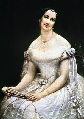 Tiara Painting - Julia Gardiner Tyler (1820-1889) by Granger