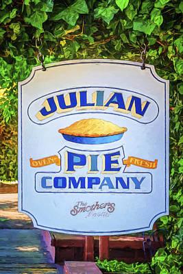 Apple Photograph - Julian Pie Company by Joan Carroll