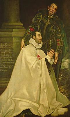 Piety Photograph - Julian Romero De Las Azanas With St. Julian, 1587-97 Oil On Canvas by El Greco