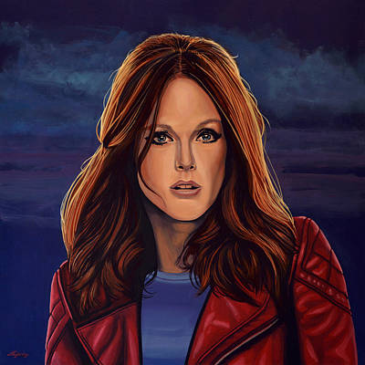Julianne Moore Art Print by Paul Meijering