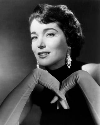 Chandelier Earrings Photograph - Julie Adams, 1957 by Everett