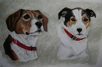 Drawing - Julie And Ruby by Joan Pye