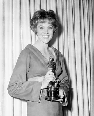 Statue Portrait Photograph - Julie Andrews, With Her Best Actress by Everett