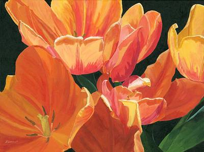 Julie's Tulips Art Print