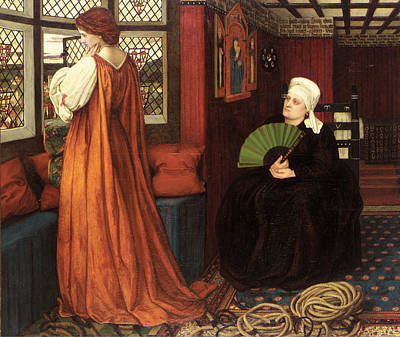 Juliet And The Nurse Art Print by John Roddam Spencer Stanhope