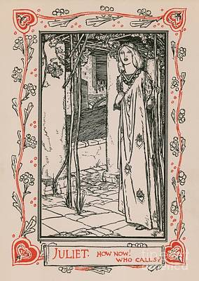 Columns Drawing - Juliet From Romeo And Juliet by Robert Anning Bell