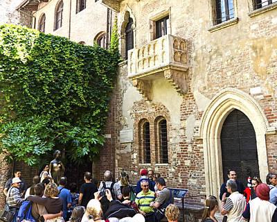 Good Luck Photograph - Juliet's Balconey - Verona Italy by Jon Berghoff