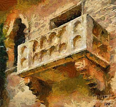 Impressionism Painting - Juliet's Balcony by Dragica  Micki Fortuna