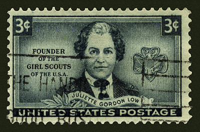 Photograph - Girl Scouts Founder Juliette Gordon Low Postage Stamp by Phil Cardamone