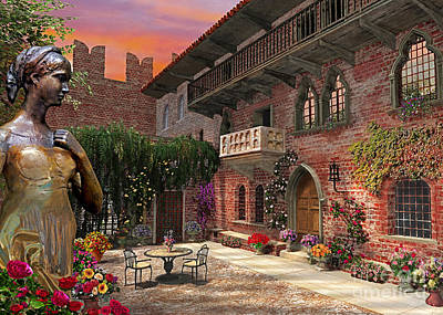 Relax Digital Art - Juliette's Verona by Dominic Davison