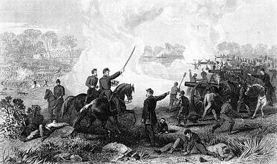 July Painting - July 1, 1862 Battle Malvern Hill Seven by Vintage Images