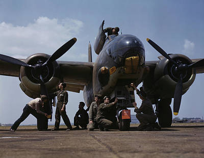 July 1942 - Servicing An A-20 Bomber Art Print by Stocktrek Images