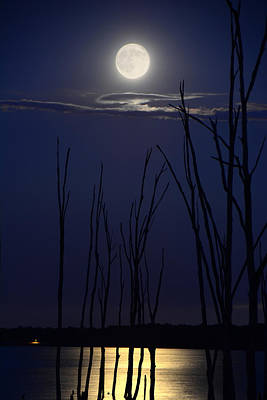 Photograph - July 2014 Super Moon by Raymond Salani III
