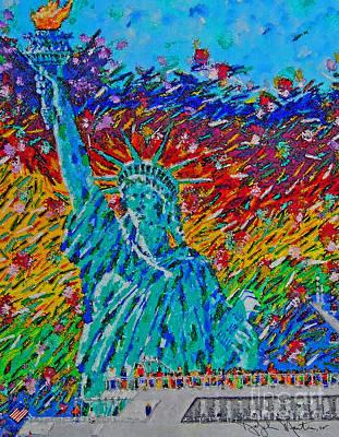 Digital Art - July 4 Celebration  by Art Mantia