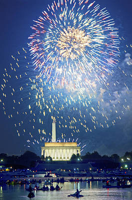 Photograph - July 4th Fireworks Washington D.c. by Steven Barrows