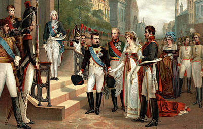July Painting - July 6 1807 Napoleon I Receiving Queen by Vintage Images