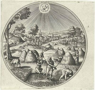 July, Adriaen Collaert, Hans Bol, Hans Van Luyck Art Print by Adriaen Collaert And Hans Bol And Hans Van Luyck