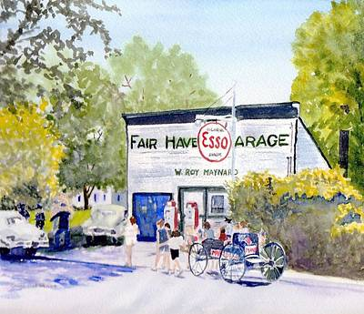 July 4th Painting - July Fair Haven Ny by Carol Burghart