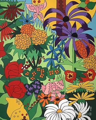 July Garden Art Print by Rojax Art