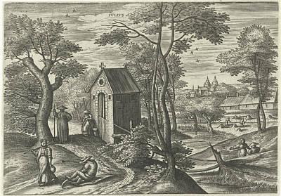 July, Julius Goltzius, Gillis Mostaert Art Print by Julius Goltzius And Gillis Mostaert (i) And Hans Van Luyck
